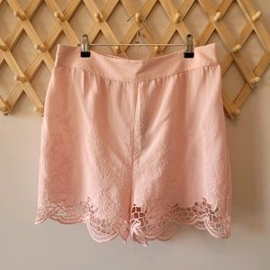 FOREVER NEW Pink Shorts (s12) BNWT Floral Lace